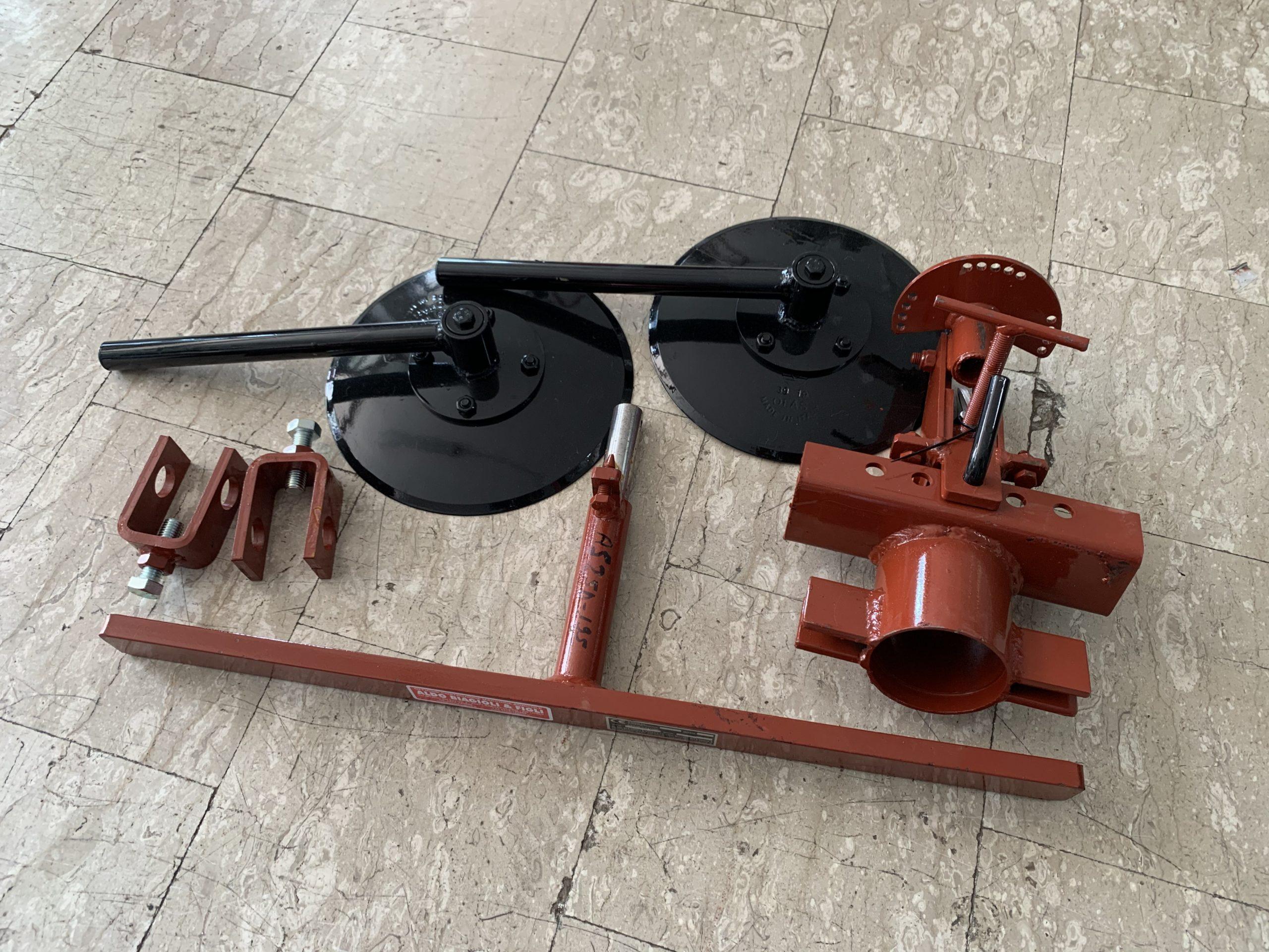 Arginatore a dischi COMPLETO ALDO BIAGIOLI AS2-5D PER MOTOCOLTIVATORE GOLDONI SUPER SPECIAL