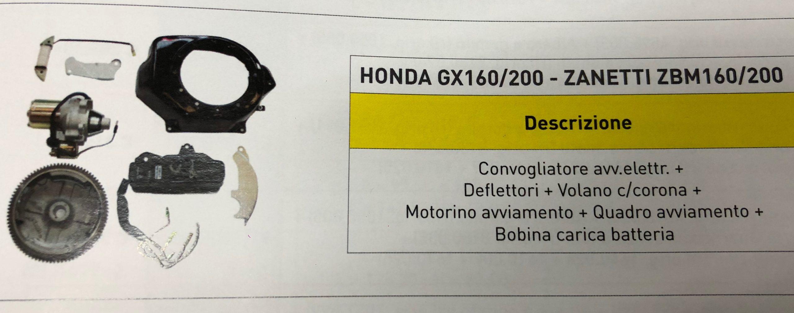 KIT AVVIAMENTO MOTORE HONDA GX 160 GX200 ANCHE PER MODELLI CINESI