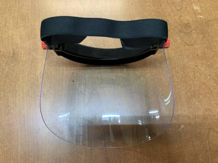 visiera in plexiglass CONFEZIONE DA 5 PEZZI