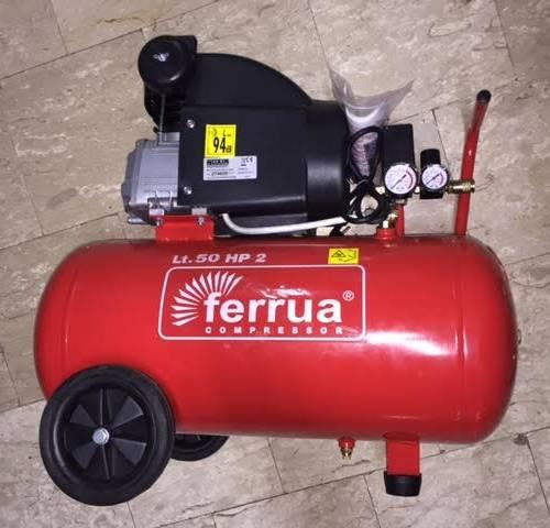 COMPRESSORE D'ARIA FINI NUAIR MODELLO FERRUA 50 LT 2 HP