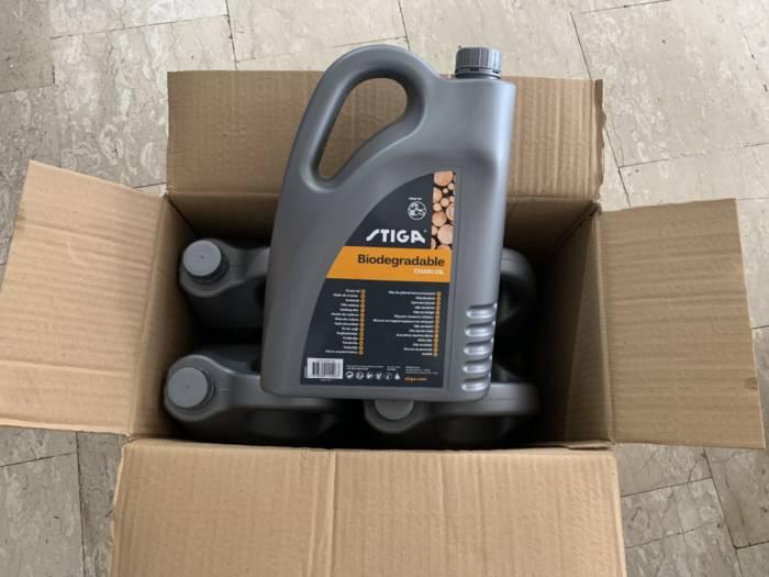 olio protettivo per catena motosega stiga confezione 4 taniche da 5 lt